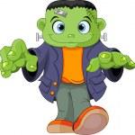 Frankenstein kid — Stock Vector