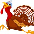 Running Cartoon Turkey — Image vectorielle