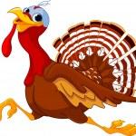 Running Cartoon Turkey — Stock Vector