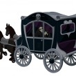 Vector de stock : Halloween Carriage