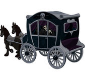 Halloween Carriage — Stock Vector