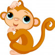 Thinking monkey — Stock Vector