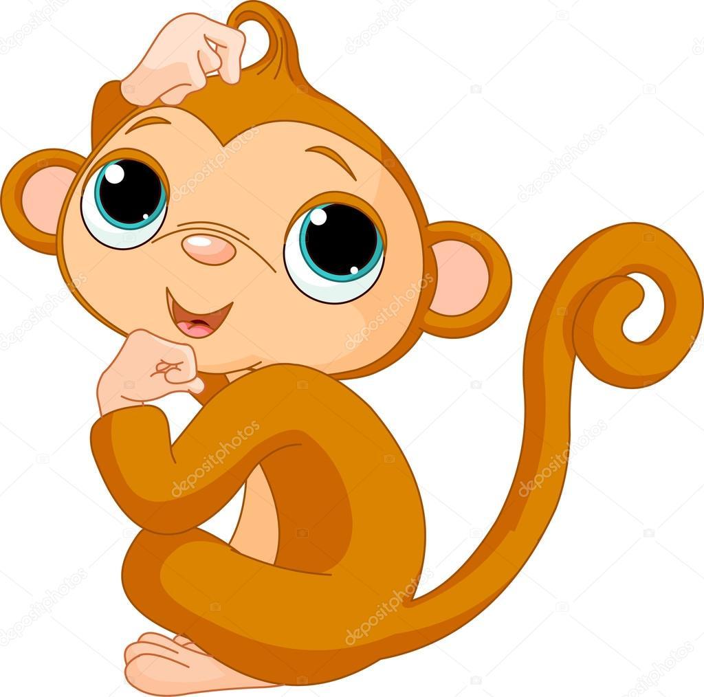 思维的猴子 — 图库矢量图像08
