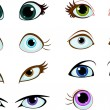 Set of cartoon eyes — Stock Vector