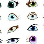 Set of cartoon eyes — Stock Vector