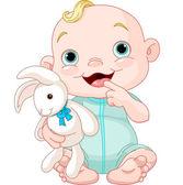 Cute baby boy — Stock Vector