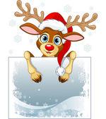 Reindeer Sign — Stock Vector