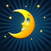 Smiling moon — Stock Vector
