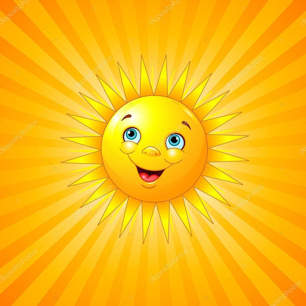 Солнце улыбающееся картинки
