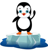 Penguin on Ice — Stock Vector