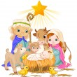 Stock Vector: Holy Family