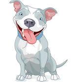 Pit Bull Dog — Stock Vector
