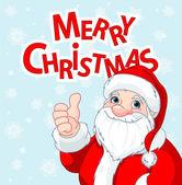 Thumbs Up Santa Claus greeting card — Stock Vector
