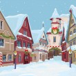 Christmas town — Stock Vector #35885687