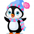 Cute winter penguin — Stock Vector #36545799