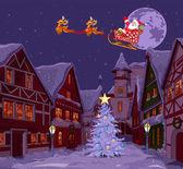 Santa's Sled — Stock Vector