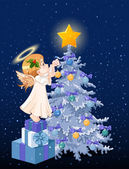 Christmas angel — Vettoriale Stock