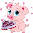 Love piglet — Vector de stock #37293463