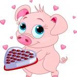 Love piglet — Stock vektor