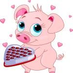 Love piglet — 图库矢量图片