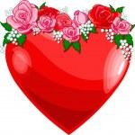 milující srdce — Stock vektor