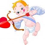 Valentines Day Cupid — Stock Vector