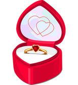 Ring box — Stock Vector