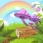 Fantasy landscape — Stock Vector
