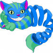 Disappearing Cheshire Cat — Stock Vector