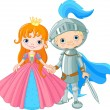 Medieval Lady and Knight — Stock Vector #39212333