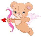 Valentine Cupid Bear — Vector de stock
