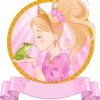 Princess and Frog — Stockvector #39579625