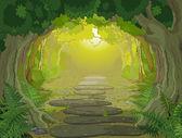 Magic landscape entrance — Stock Vector