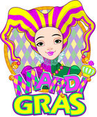 Mardi Gras harlequin design — Stock Vector