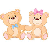 Teddy bears in love — Stock Vector
