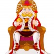 King on throne — Stock Vector #40630931