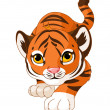 Crouching baby tiger — Stock Vector #41468313