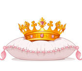 Crown on the pillow — Stock Vector