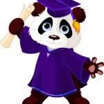 Panda Graduates — Stock Vector #45467195