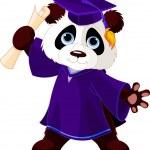 Panda Graduates — Stock Vector