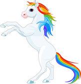 Rainbow horse — Stock Vector