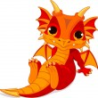 Cute baby dragon — Stock Vector