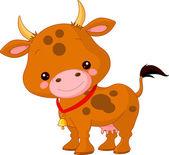 Roztomilý kráva — Stock vektor