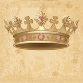 Crown background — Vector de stock