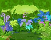 джунгли пейзаж — Cтоковый вектор