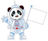 Panda astronaut — Stock Vector