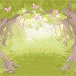 Glade in the Magic forest — Stock Vector #48893879