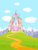 Magic Fairy Tale Princess Castle — Stockvector