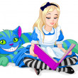 Alice and Cheshire Cat — Stock Vector
