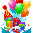Birthday gifts and decorations — Stockvector